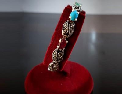 دستبند نقره جواهرات اصل کد 124018