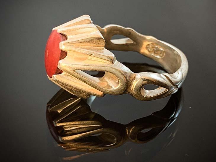 انگشتر نقره سنگ درمانی مولتی