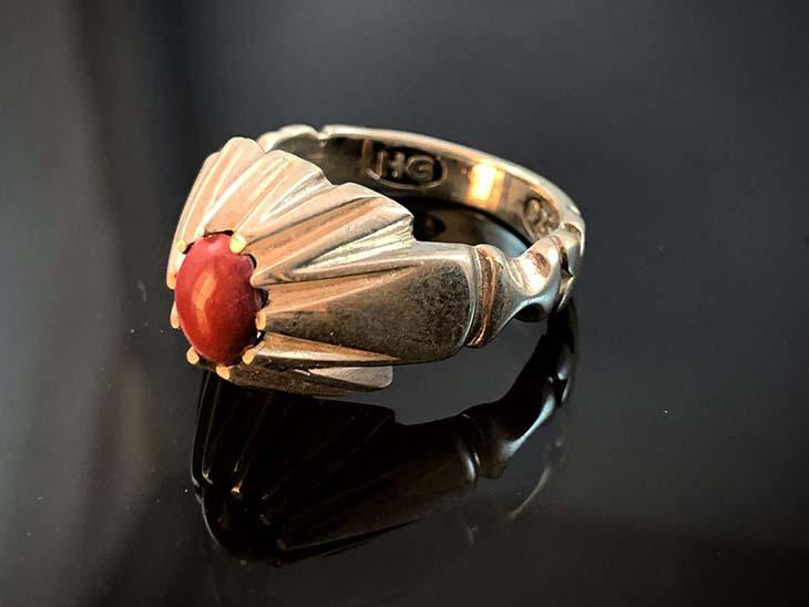 انگشتر نقره سنگ مولتی 111345