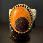 انگشتر شرف شمس سنگ درمانی مولتی گلدستون عقیق زرد یاقوت زرد دعای شرف الشمس
