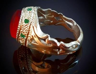 انگشنر نقره عقیق یمنی اصل