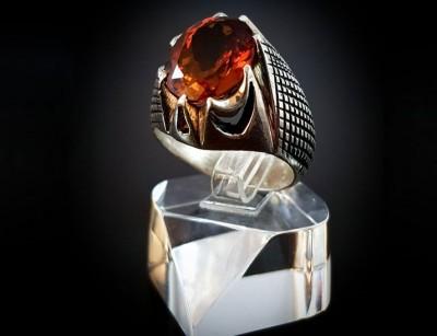 انگشتر نقره مردانه الکساندریت