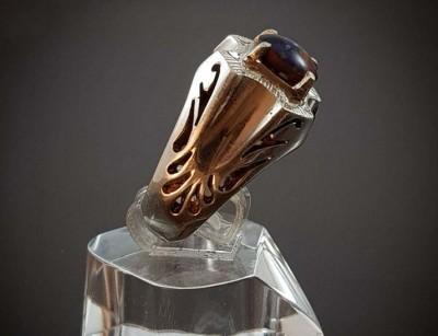 انگشتر نقره سنگ درمانی مولتی وانتومیکس