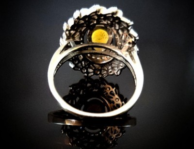 انگشتر نقره زنانه و دخترانه اوپال