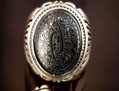 انگشتر نقره مردانه حدید خطی