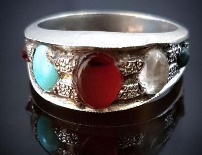 انگشتر نقره مردانه سنگ های قیمتی